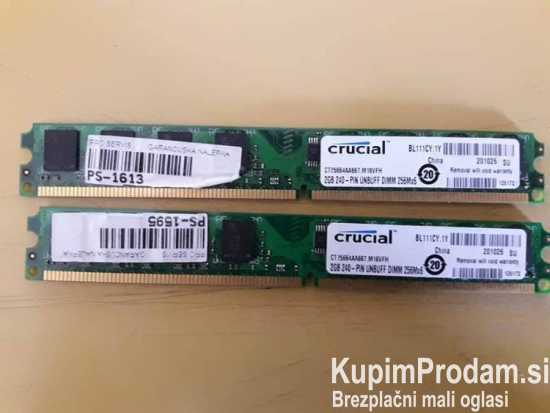 2x2gb ddr2 667mhz Crucial Low profile