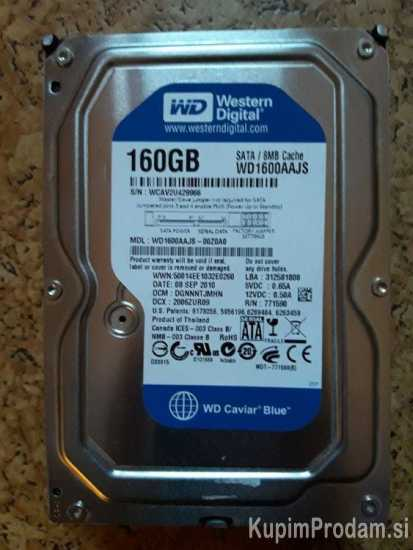 160Gb Hdd WD Blue Caviar,sata2